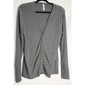 Zenana outfitters gray xl button front cardigan
